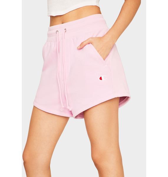 Champion Pink Reverse Weave Shorts