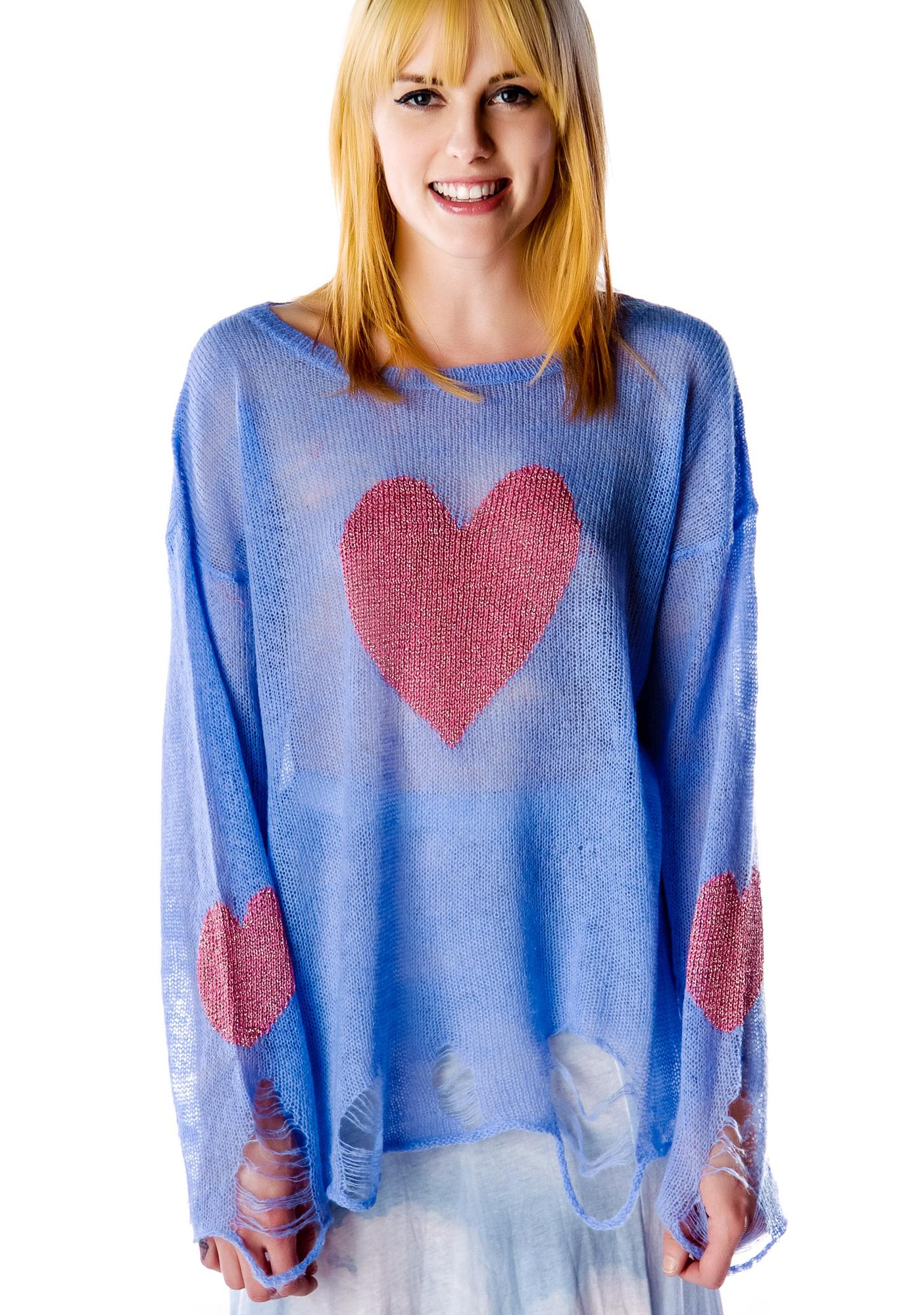 Wildfox Couture Happy Heart Lennon Sweater