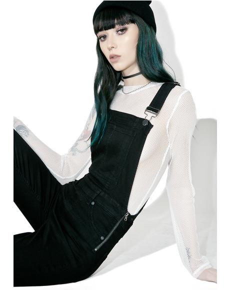 Spray Black Dungaree
