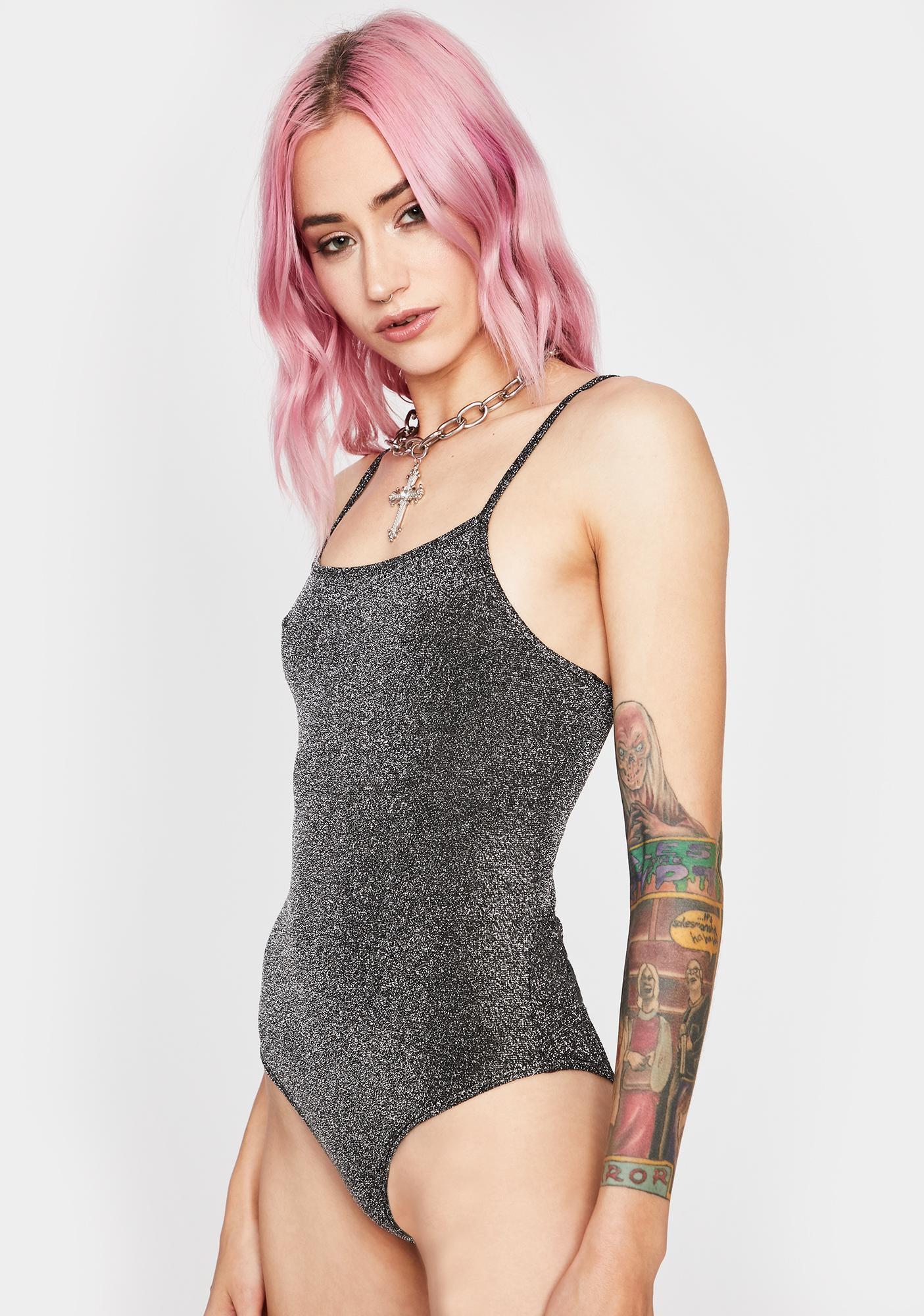 Pewter Best For Last Glitter Bodysuit