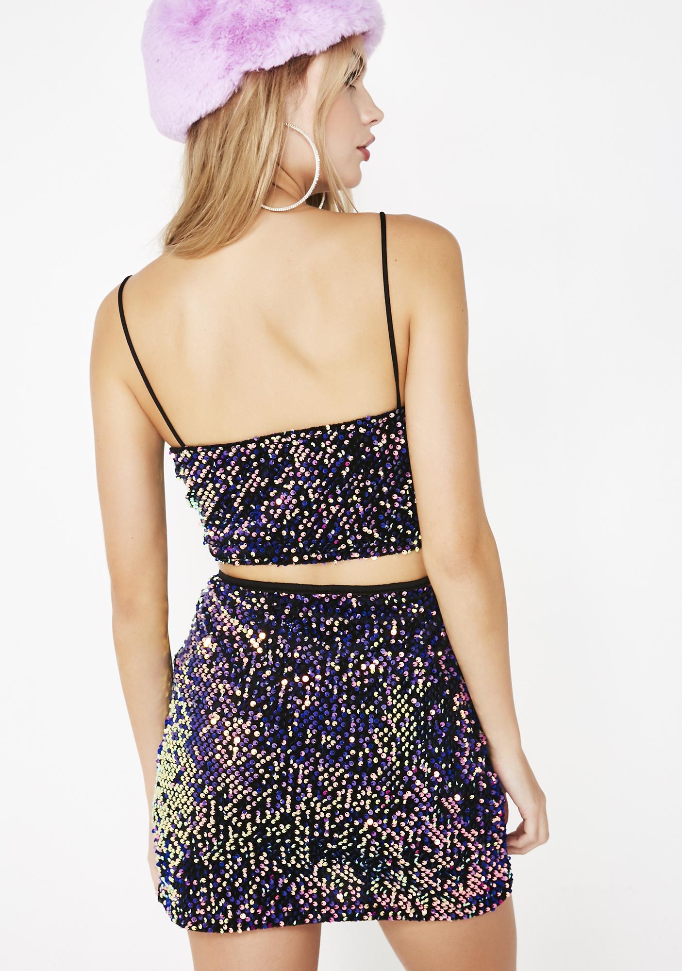 Motel Cheri Split Skirt