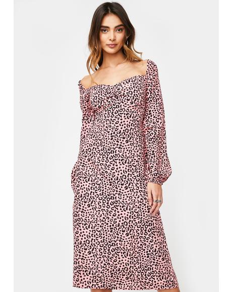 Kitty Kinda Mood Midi Dress