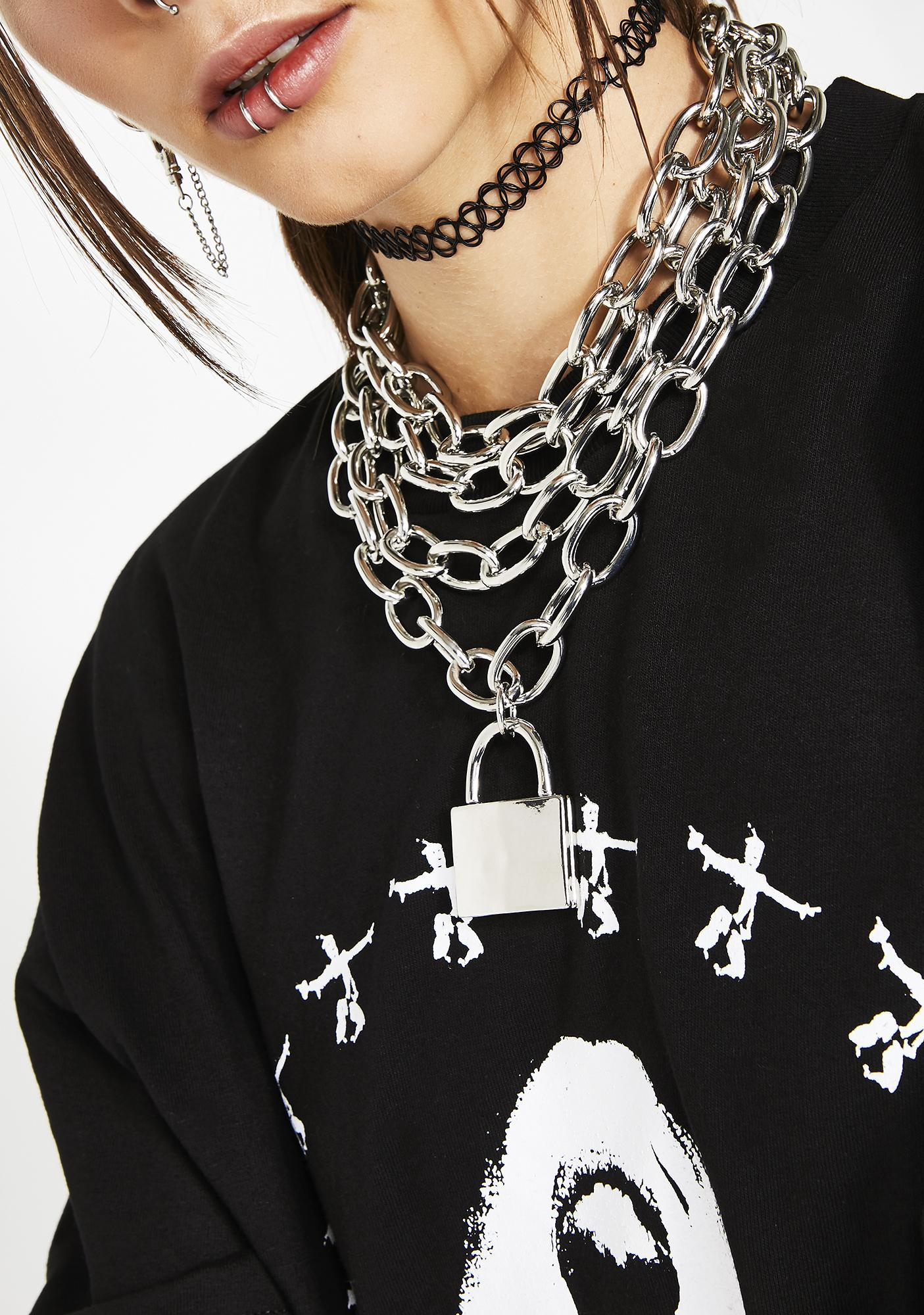 Lock Me Up Layered Necklace
