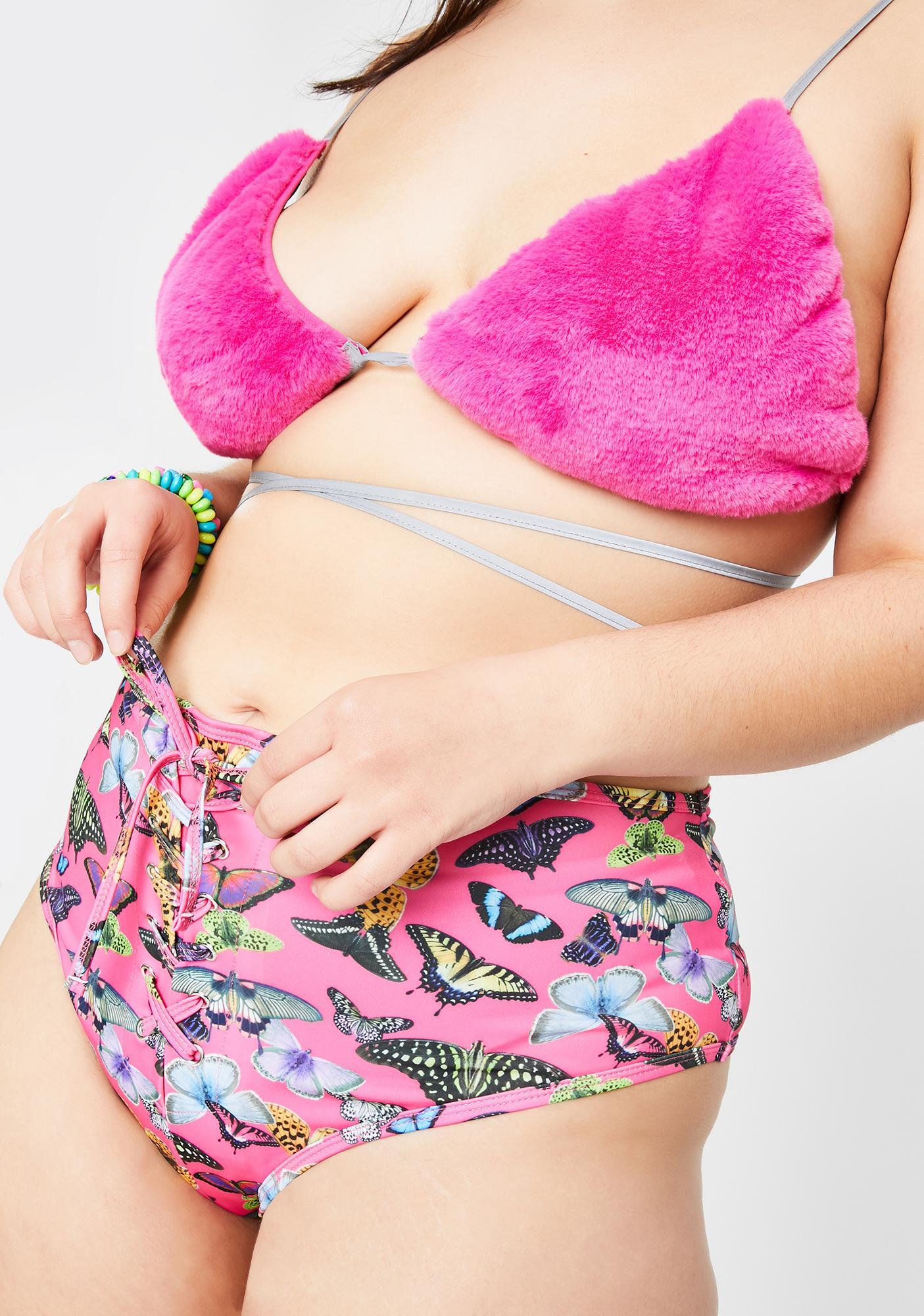 Club Exx True Lovebug Lace-Up Shorts
