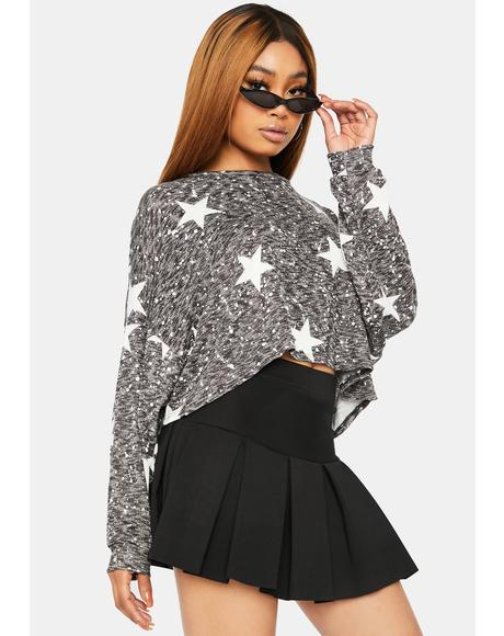 Brightest Shining Star Print Sweater