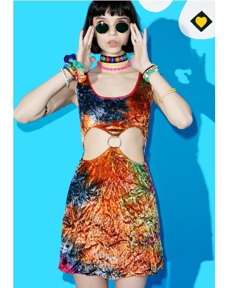 Stay Foxxy Velvet Cutout Dress