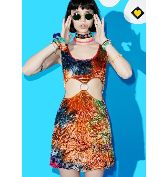 Current Mood Stay Foxxy Velvet Cutout Dress