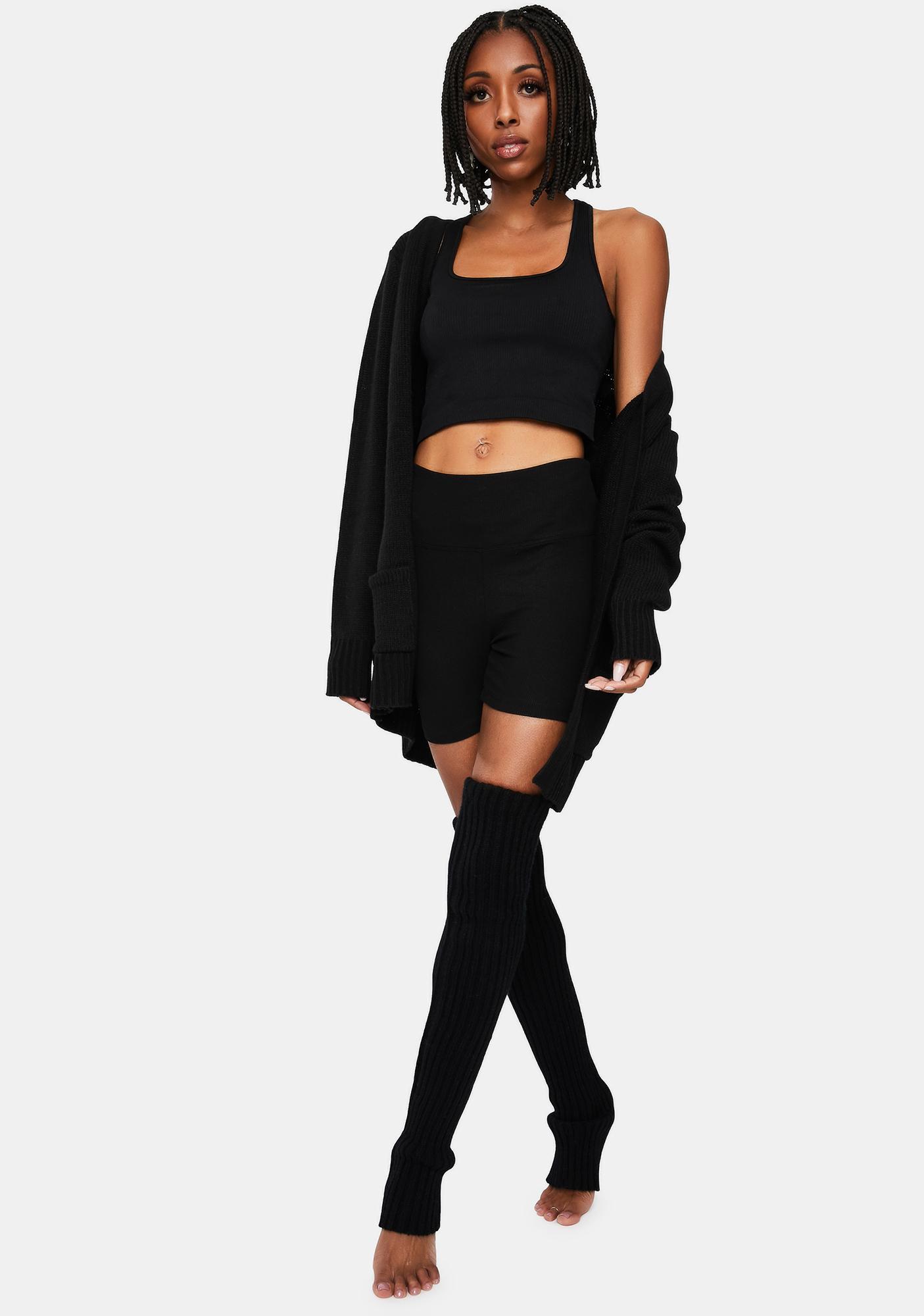 Noir Cozy Clique Knit Sweater Tank