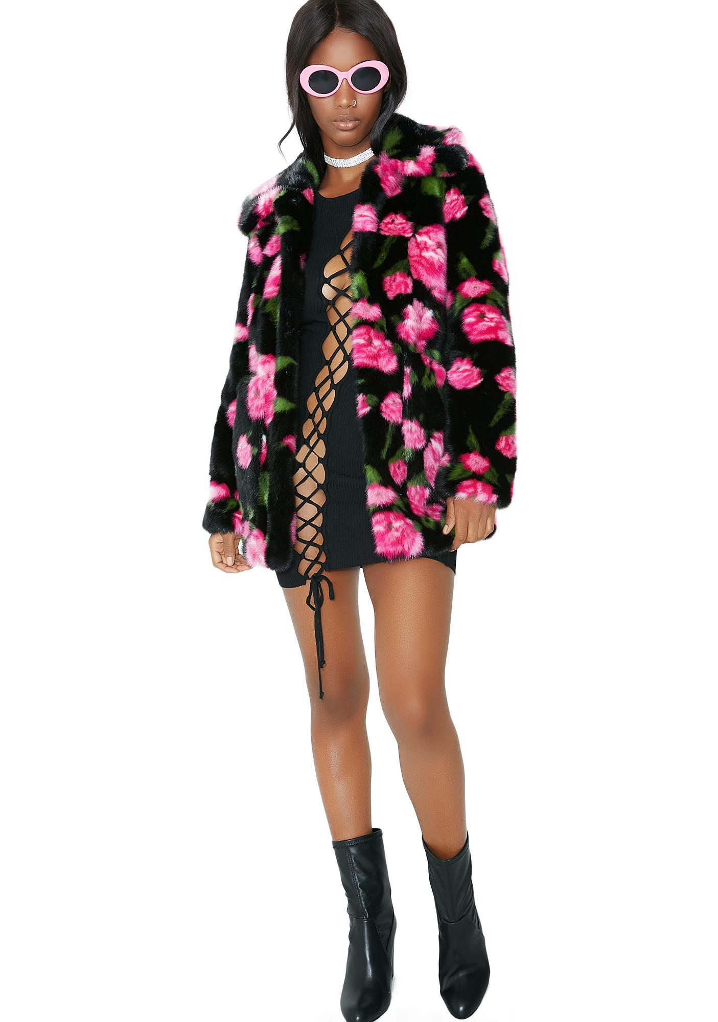 Jakke Rose Floral Tammy Coat