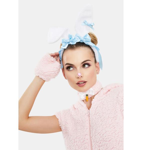 Powder Fuzzy Wuzzy Bunny Ear Headband
