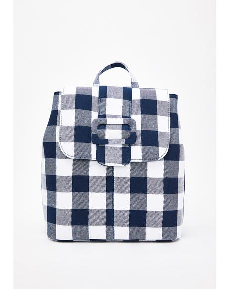Ella Gingham Backpack