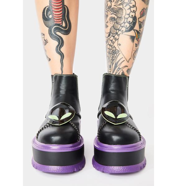 Koi Footwear Purple Area 51 Platform Boots