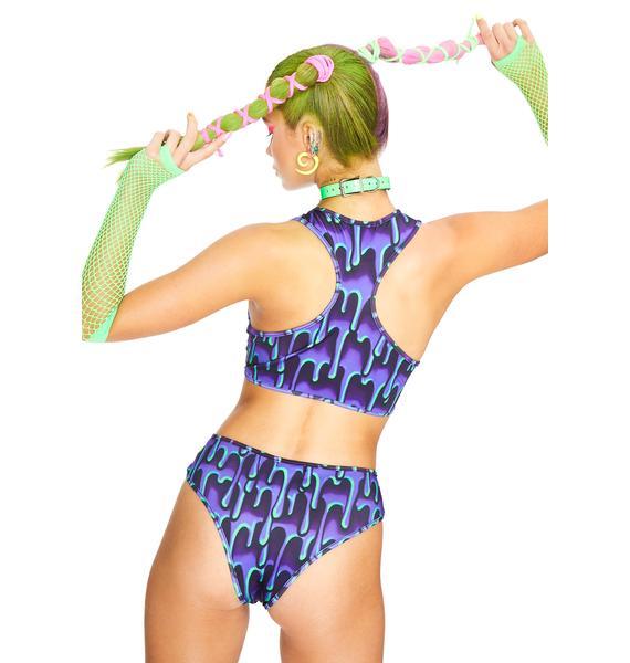 Club Exx Ooey Gooey Lace-Up Crop Top