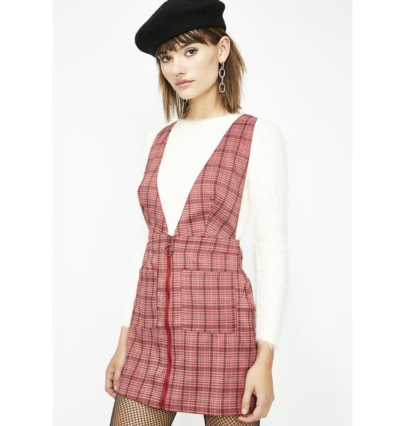 Whatevers Clever Plaid Dress