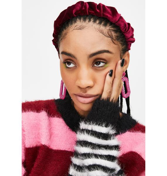 Berry Care For You Velvet Headband