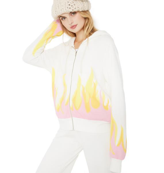 Wildfox Couture Wildfire Prescott Zip Hoodie