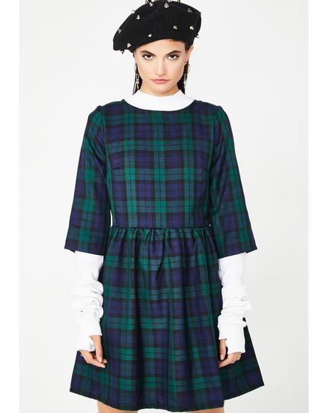 School In Sesh Tartan Dress