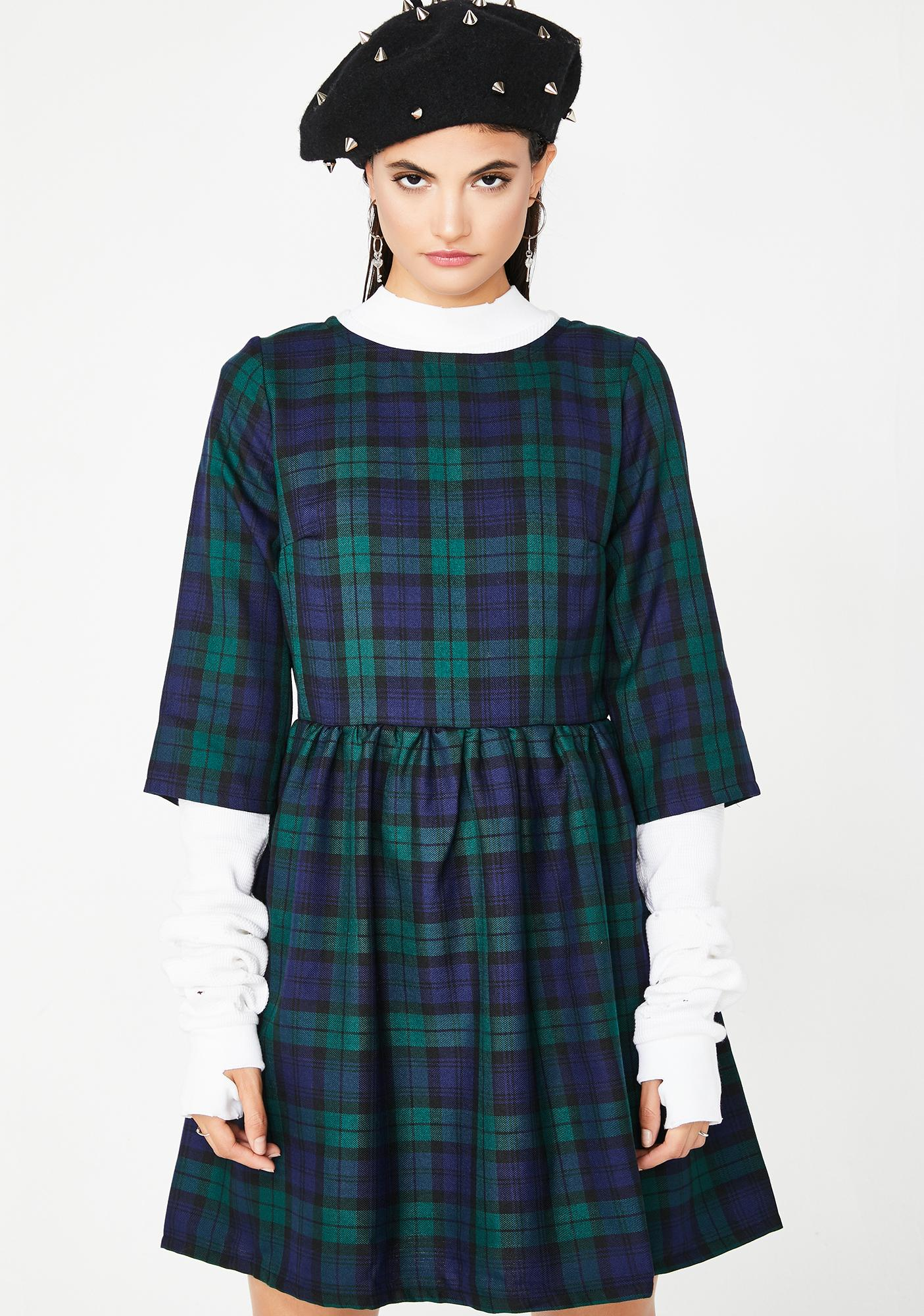 School In Sesh Tartan Dress