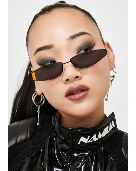 Earn Your Stripes Cat Eye Sunglasses