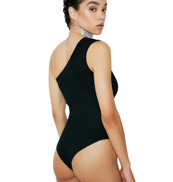 On My Side One Shoulder Bodysuit