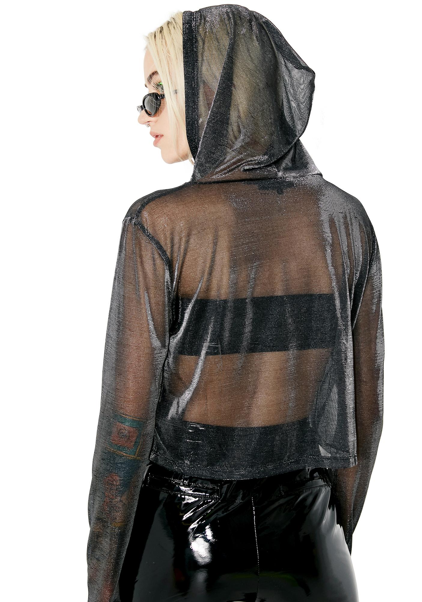 Worst Behavior Sheer Hoodie