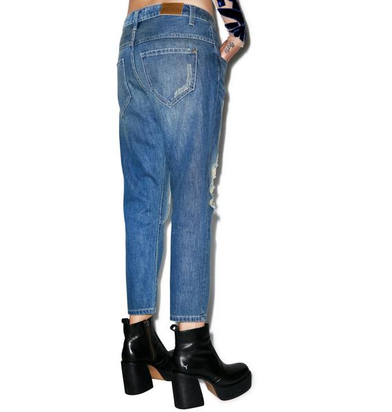 Wildfox Couture Baggy Crop Jeans