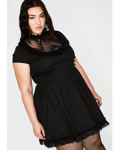 Plus Death March Mini Dress
