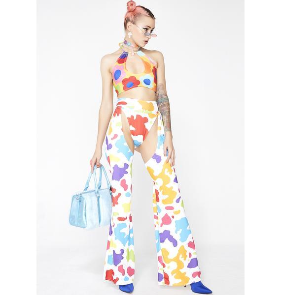 Babydol Clothing  Rainbow Ride 'Em Chaps N' Hot Pants