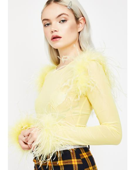 Honey Smitten Sass Feathered Top