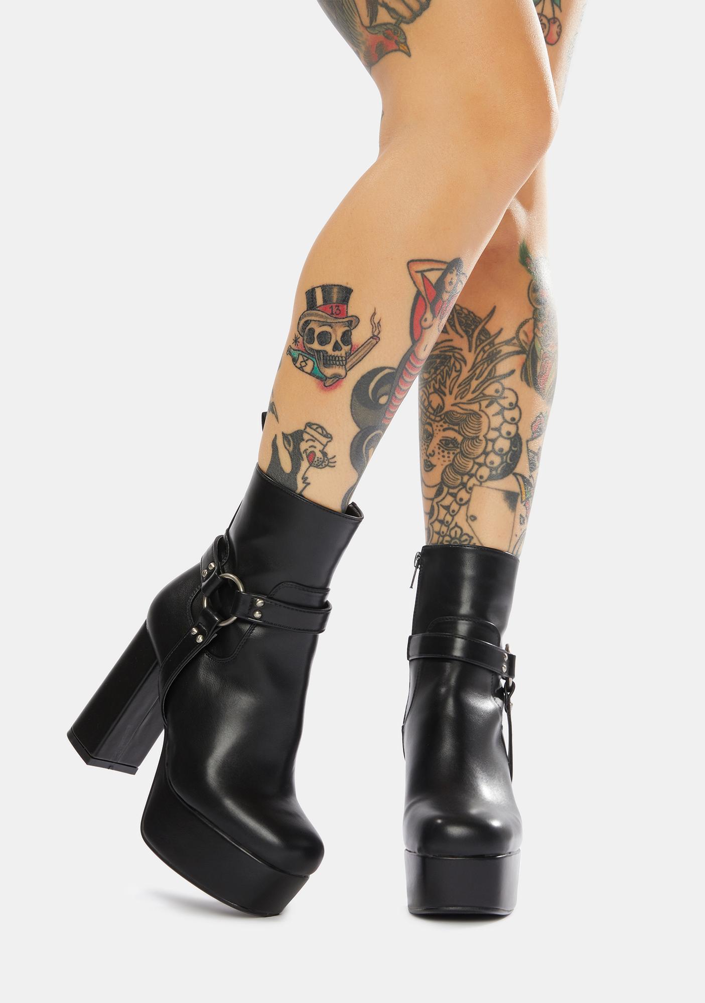 Lamoda In Control Platform Harness Boots