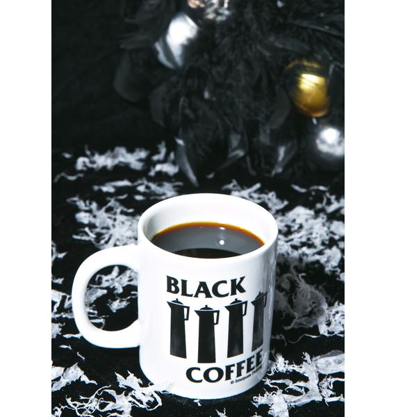 Sourpuss Clothing Black Coffee Mug