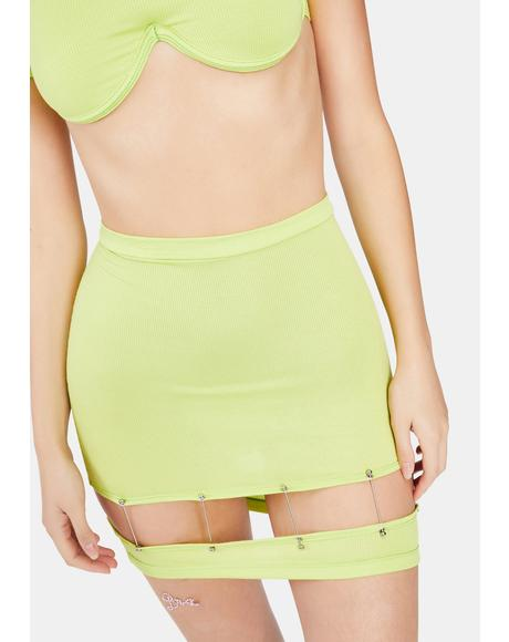 Limewire Cut-Out Skirt