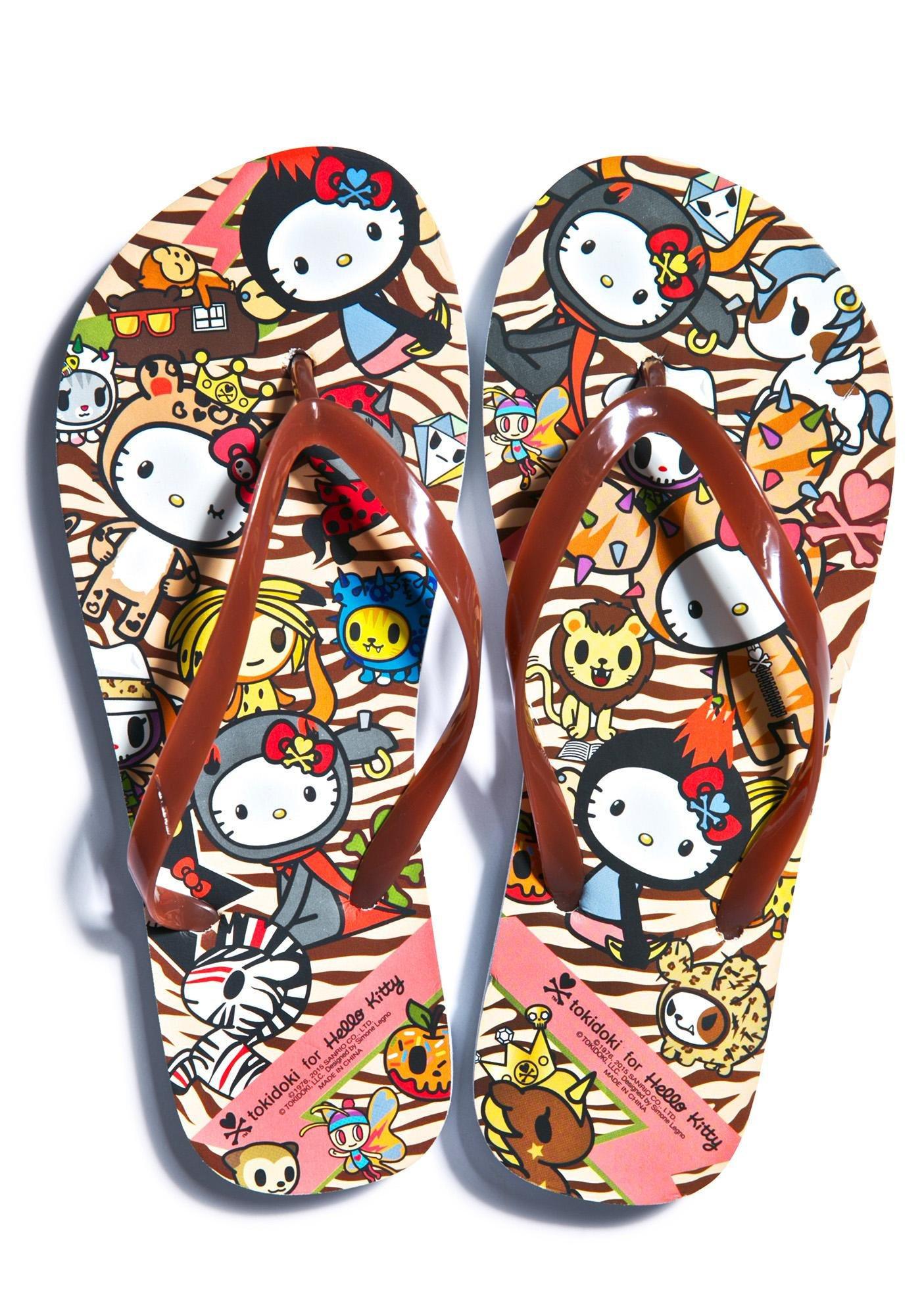 Sanrio Tokidoki X Hello Kitty Summer Safari Flip Flops