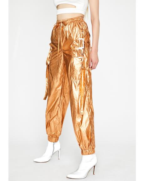 Golden In My Element Metallic Pants