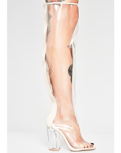 Clear Conscience Thigh High Boots