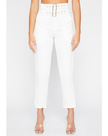 Strapped For Cash Cropped Pants