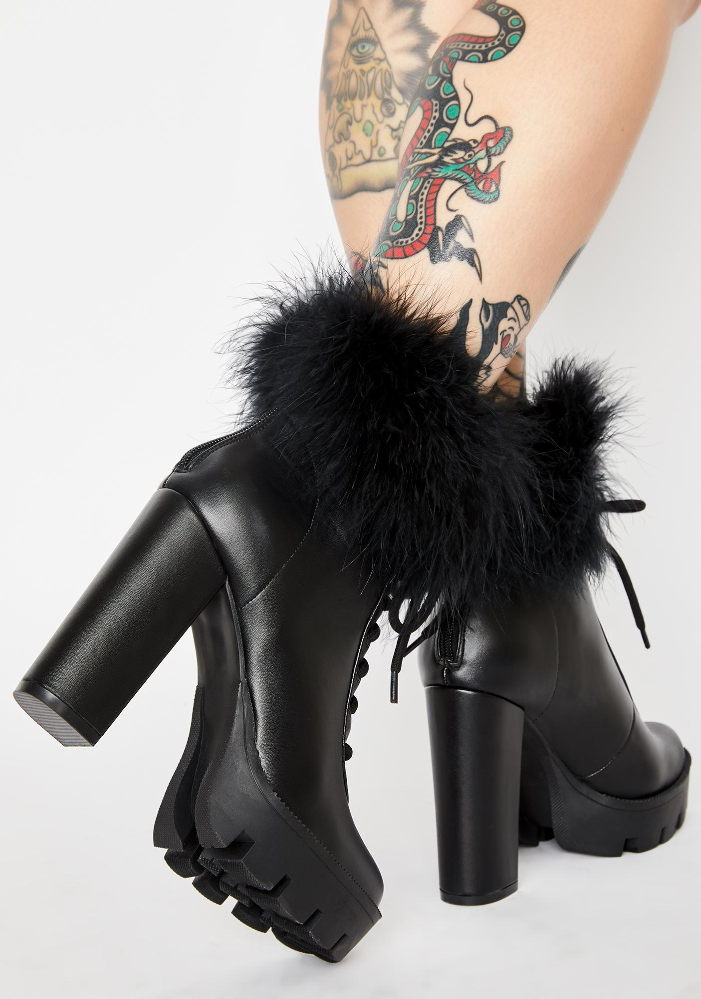 Slick Only The Best Marabou Booties