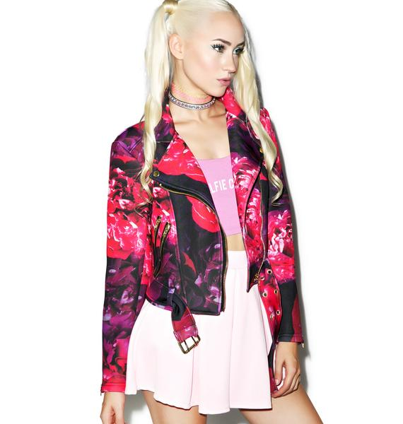 Sugarpills Flower Moto Jacket