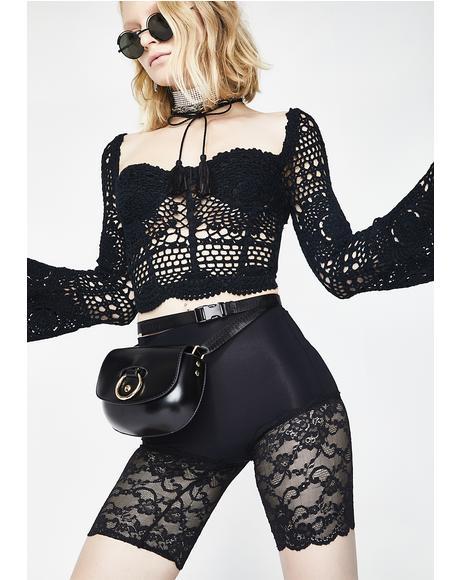 Midnight Baddie Lace Shorts