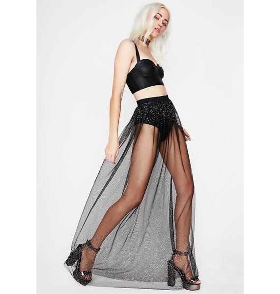Midnight Sheer Sass Sparkle Skirt