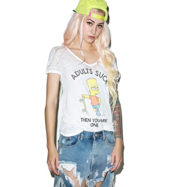 Adults Suck Simpsons T-Shirt
