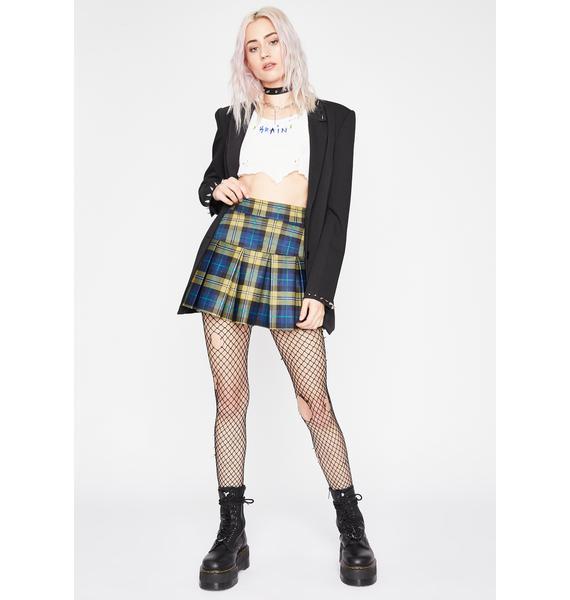 Honey Wicked Scholar Plaid Skirt