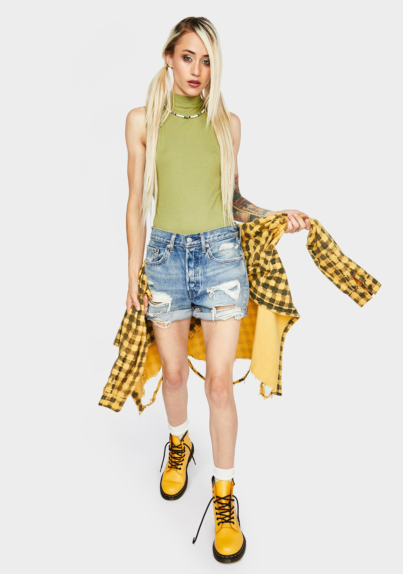 Free People Army Muscle Beach Bodysuit