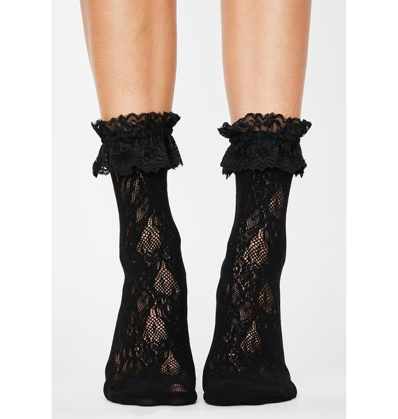 My Treat Lace Ruffle Socks