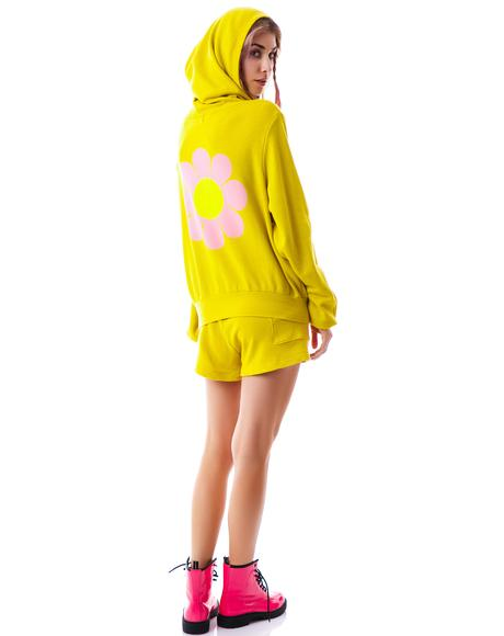 Flower Girl Mailbu Zip Up Hoodie
