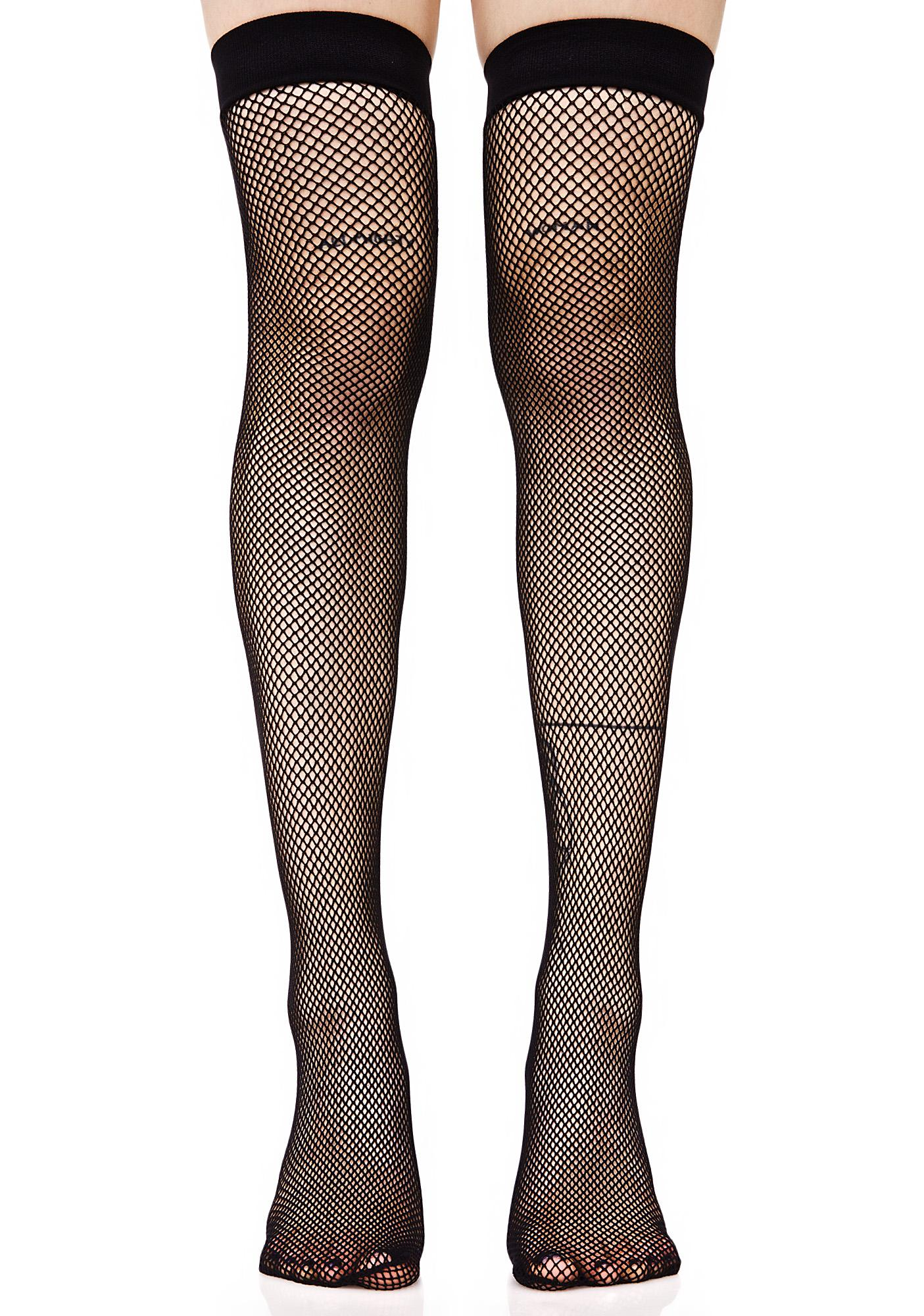8de2a6a9422 Everyday Slay Fishnet Thigh Highs