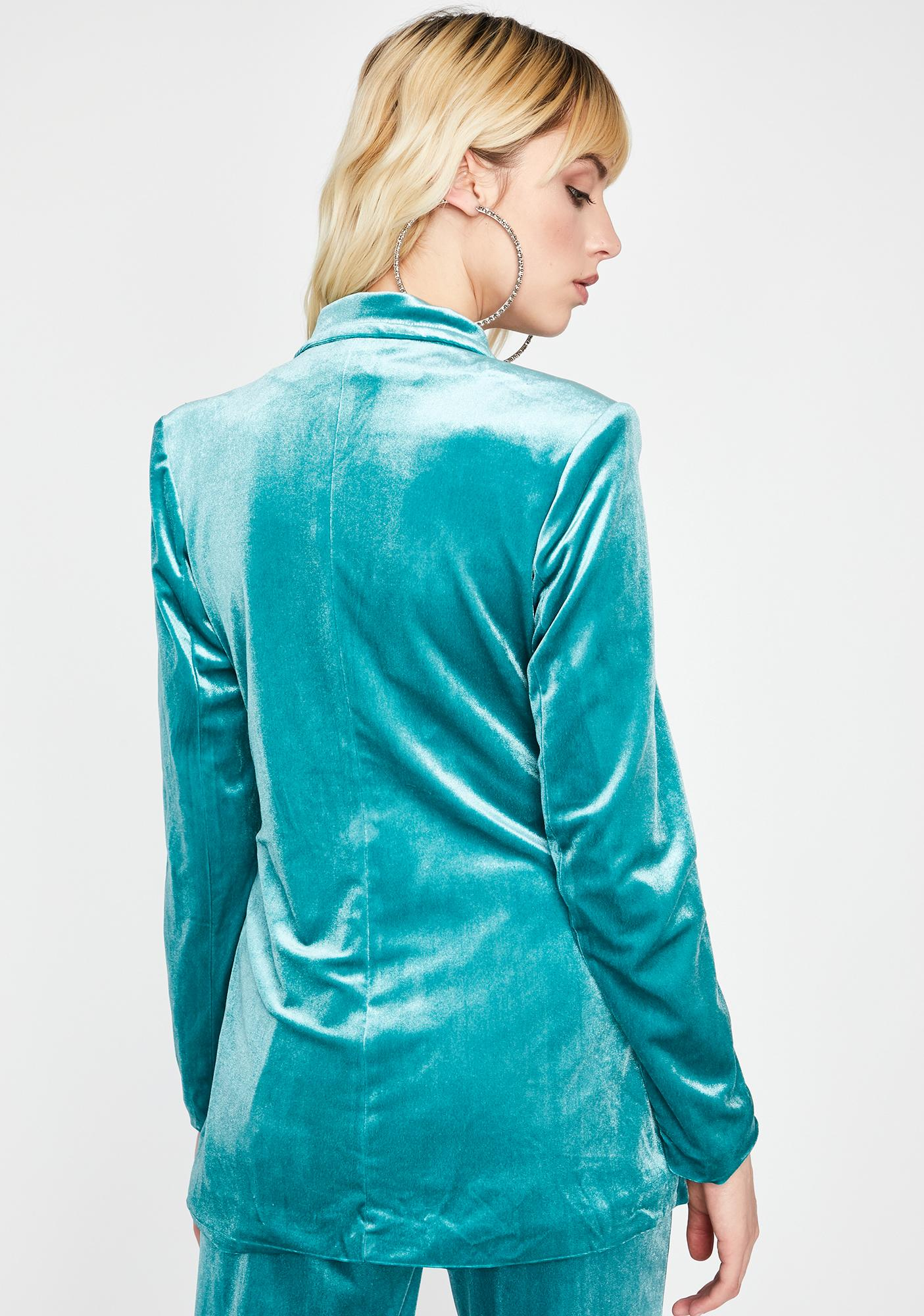 Party Season Velvet Blazer