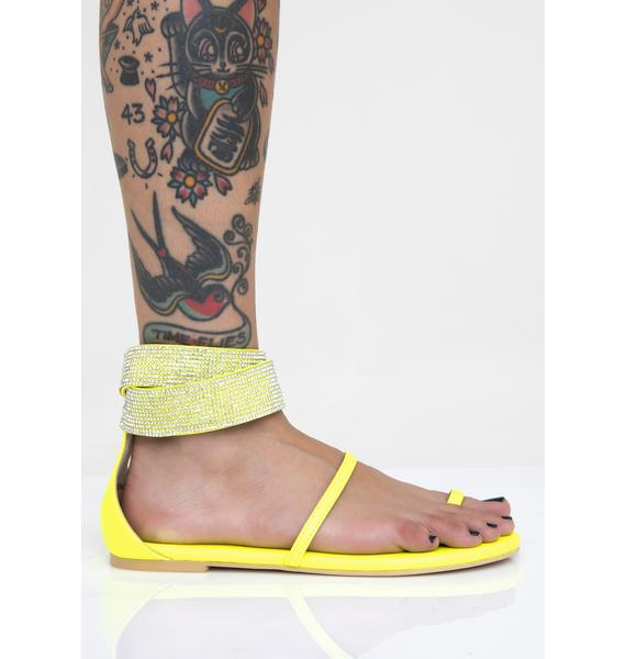 Volt Bling Me To Life Rhinestone Sandals