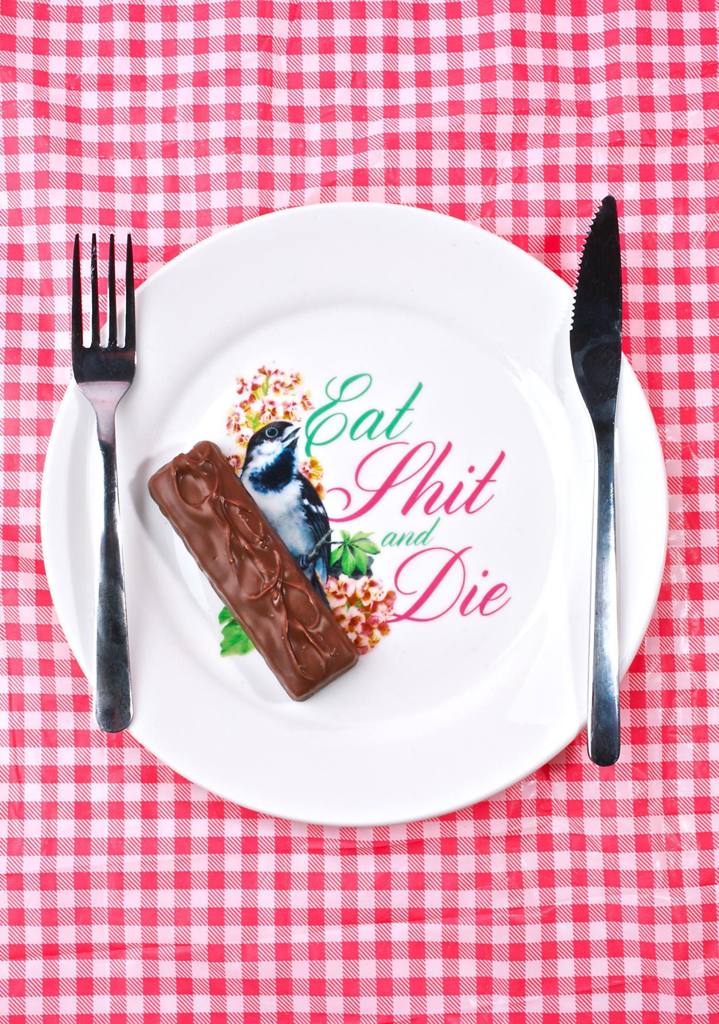 Sourpuss Clothing Eat Shit & Die Dinner Plate