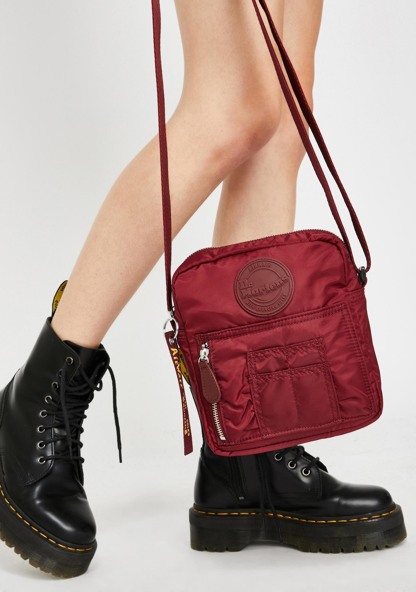 Dr. Martens Cherry Red Super Mini Nylon Bag